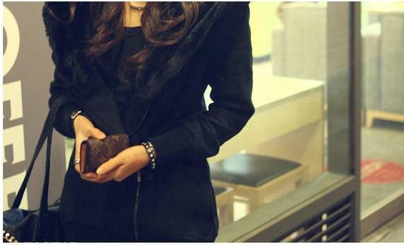 Nova Coréia Casuais Longo Engrossar Velo Hoodies das Mulheres Moletons Zip Up Slim Fit Casaco Quente