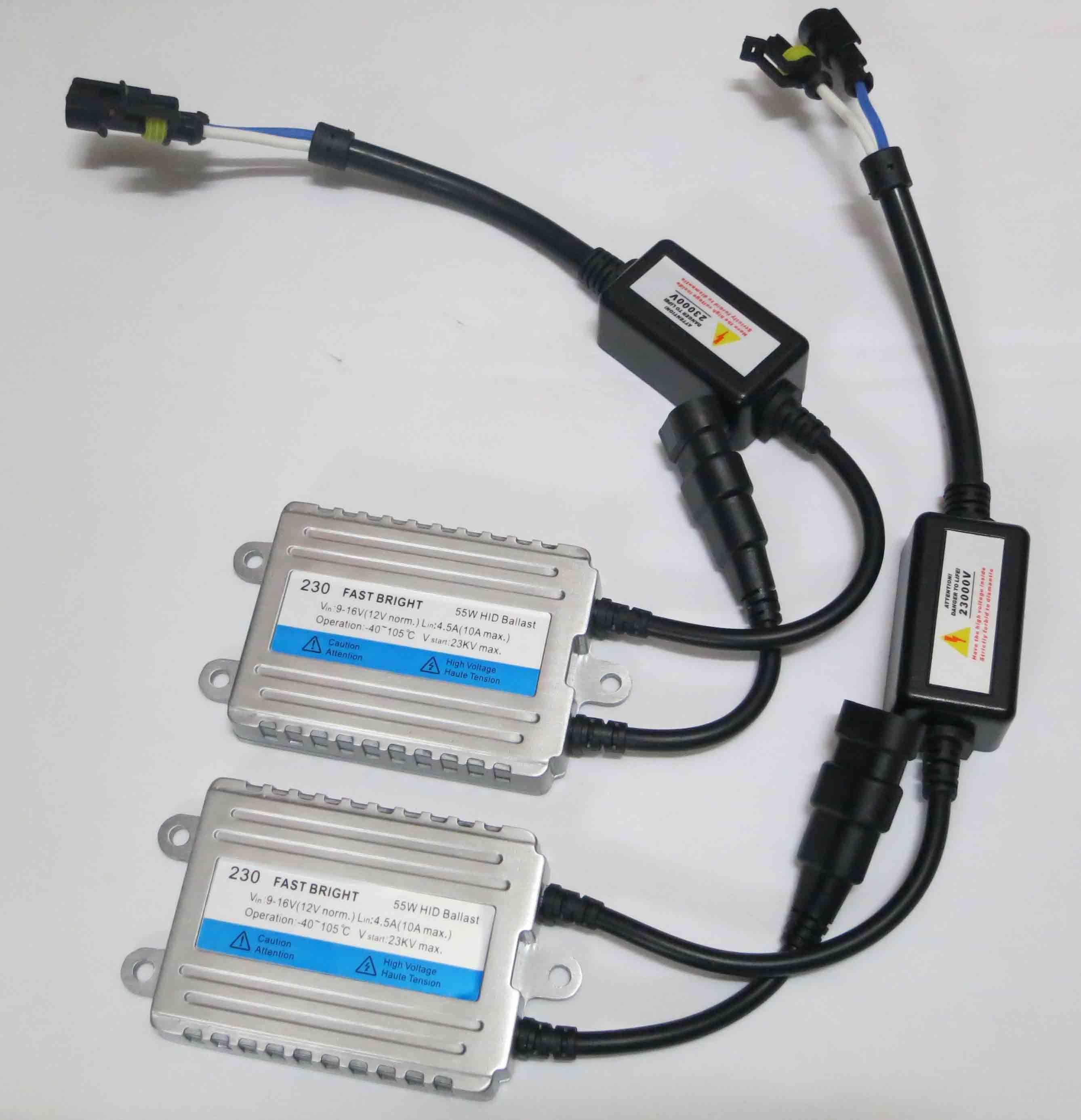 55W Ballasts Slim Bright Rapide Remplacement Xénon HID 2012 0,1 Second Ballasts de démarrage rapide 12V