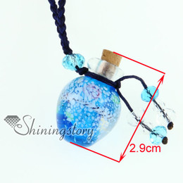 Vintage Small Bottles NZ - murano glass pendants essential oil diffuser necklaces small vial necklace aromatherapy pendant vintage perfume bottle pendant necklaces