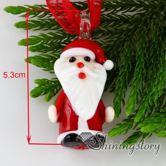 Christmas Santa Claus lampwork murano glass handmade italy pendants for necklace jewelry cheap china fashion jewelry mup119
