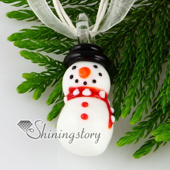 New arrive christmas snowman lampwork murano glass italy handmade pendants for necklace jewelry cheap china fashion jewelry mup120