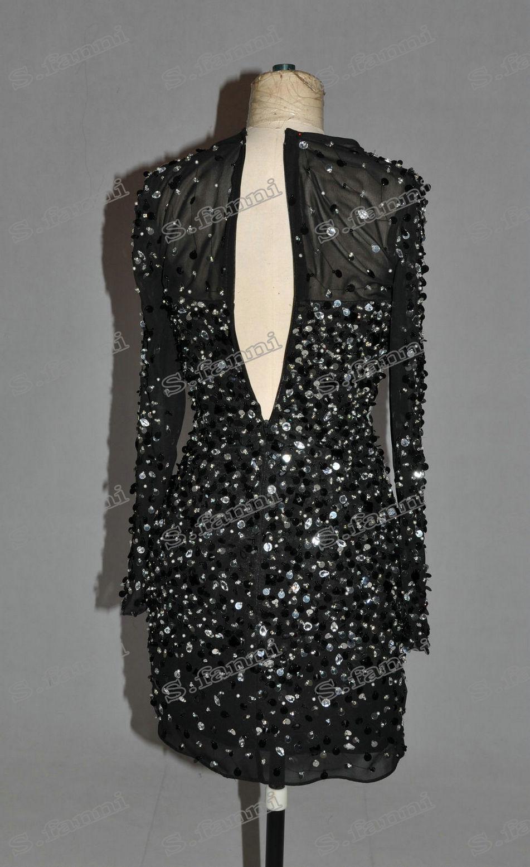 2021 Nueva llegada Mangas largas con cuentas Mini Party Dress Customer Made Cocktail Vestidos Ocasas especiales Party Bates con cuentas