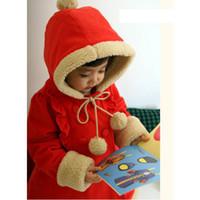 Wholesale Topcoat Hoodie - girls' coats baby clothes wind coat jacket Christmas topcoat HOODIES overcoat Windproof hoody C88