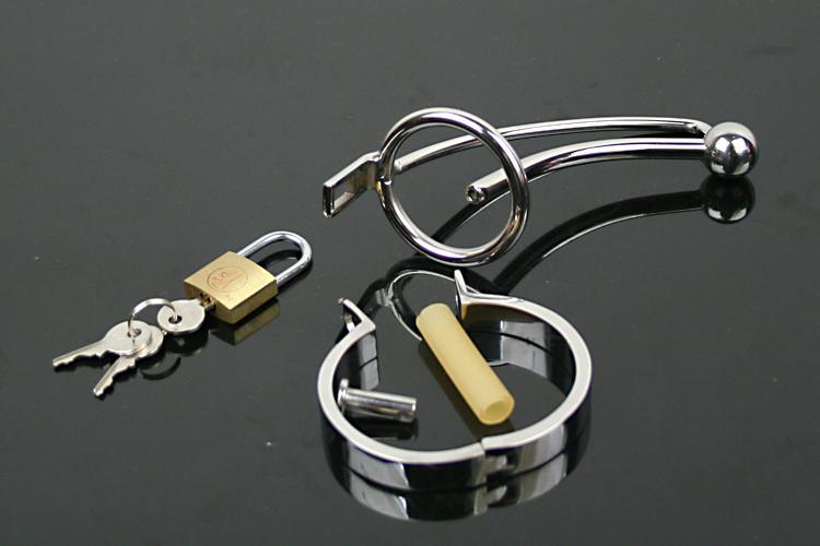 Partihandel Chastity Belt rostfritt stål kyskhet bur vuxen sex leksaker bondage ring