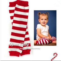 Wholesale Christmas Props For Baby Photography - Baby Leg Warmers For Christmas Red White Stripe Leg Warmer Holiday Baby Gifts Photography Props 60pair lot QueenBaby