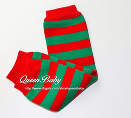 Wholesale Leg Warmer For Girls - Baby Leg Warmers For Christmas Red Green Stripe Leg Warmer Holiday Baby Gifts 60pair lot Queenbaby