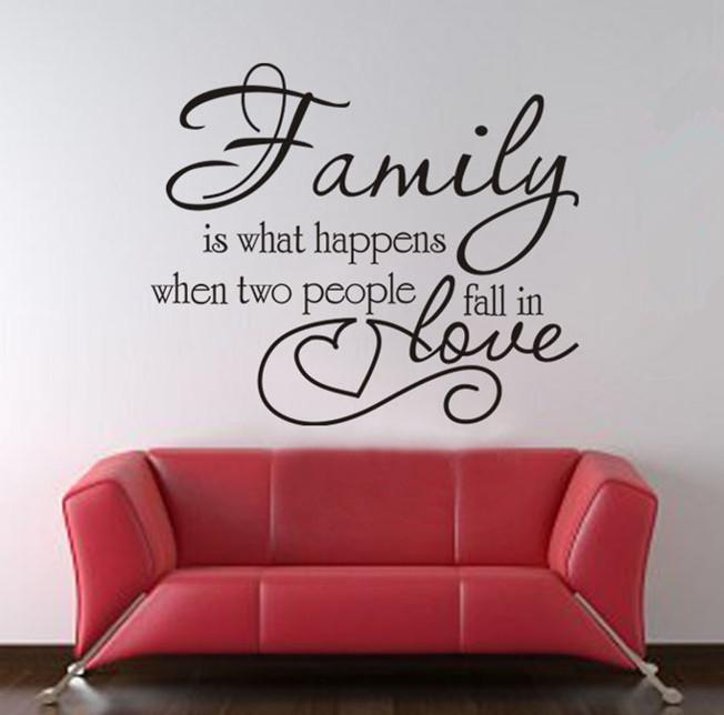 Wall Stickers Decor family love wall quote decal decor sticker lettering saying vinyl
