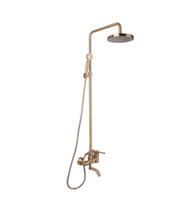 Wholesale Bathroom Faucets Antique Bronze Finish - Bathroom Wall Mounted shower set bronze antique finishing Cold and Hot Shower Mixer Faucet