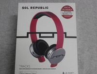 Wholesale Sol Headphones Pink - 10pcs SOL Republic Tracks over-ear headphones with Mic Black White Red Blue Pink Purple