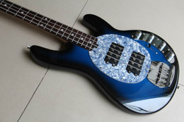 Wholesale 48hr Dispatch - 2012 New Arrival 4 string Ray electric bass blue top quality 48hr Dispatch 110528