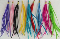 Wholesale Natural Color Feather Extensions - Rooster feathers, Natural Feather hair extension, Hot Vivid Colors,500pcs lot,Free Shipping