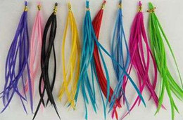 wholesale rooster feathers natural UK - Rooster feathers, Natural Feather hair extension, Hot Vivid Colors,500pcs lot,Free Shipping