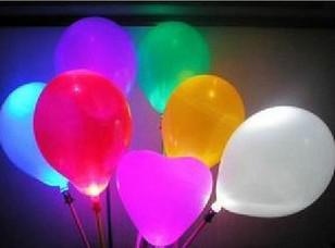 무료 배송 50pcs 혼합 다채로운 LED 7 색 변경 풍선 점멸 조명 파티 파티 호의