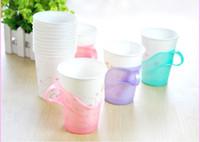 Wholesale Disposables Plastics Cups - Paper Cup Holder Disposable Cups Prop Plastic Teacup Clips 6 Pcs = Pack