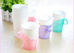 Wholesale Disposable Clips - Paper Cup Holder Disposable Cups Prop Plastic Teacup Clips 6 Pcs = Pack