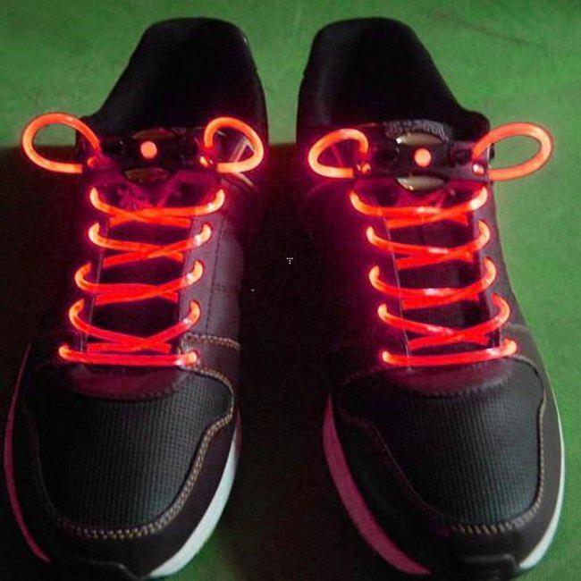 30 adet  Yanıp Sönen LED Ayakkabı Dantel Fiber Optik Shoelace Aydınlık Ayakkabı Danteller Light Up Ayakkabı dantel