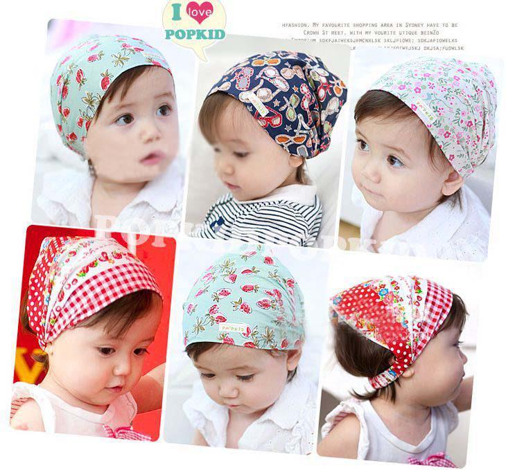 الجملة أزياء الأطفال إكسسوارات الطفل بنات الجمجمة قبعة القطن وشاح الطفل عصابات شال وشاح