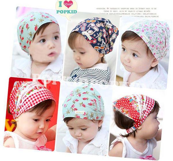 best selling Wholesale Fashion Children Accessories Baby Girls Skull Cap Cotton Scarf Baby Bandanas Shawl Scarf