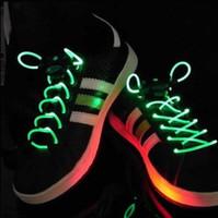 Wholesale Dropship Best - 40pcs lots Dropship free shipping Promotion Best Price Disco Flash light up LED Shoelace