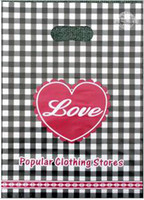 Wholesale Plastic Plaid Bags - 26 types thickening Boutique clothing bags plastic bags shopping bags gift bags