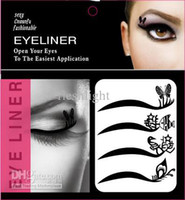 ingrosso le ombre di occhio delle signore-50 set 2012 NUOVO !! lady gaga Vintage Eye liner Sticker Shadow Sticker Adesivo occhi fumosi