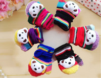Wholesale Wholesale Pink Baby Mittens - Wholesale baby gloves cartoon children gloves baby with rope hanging neck gloves 12pcs