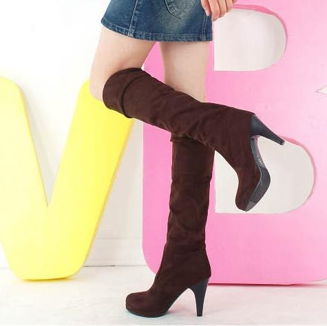 new autumn and winter the two wear elastic stretch boots high with knee boots women boots