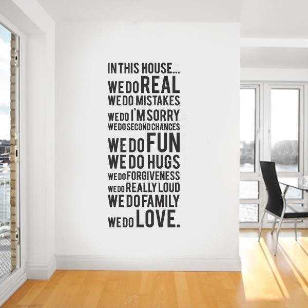 Wall Decoration Stickers house rule wall quote decal decor sticker lettering saying wall