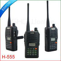Wholesale Talkie 7w - GLL218 7W Walkie Talkie UHF VHF H555 Interphone Transceiver Two-Way Radio with LCD Mobile Portabl