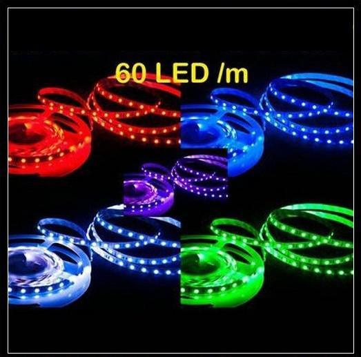 Ny 5m Flexibel LED-remsa RGB 5050 SMD 300 LED-lampor + 24KKEY IR Fjärrkontrollbil Julljus