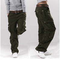 Wholesale Army Cargo Bag - Army Green women's overalls bags of the straight trousers casual pants hip-hop pants couple pants