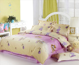 Children Cartoon Bedding Sets Canada - Teddy bears for children bed sets with fresh colors,Top quality children crib sets ON SALE