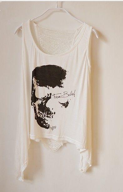 Commercio all'ingrosso - nuovo arrivato, magliette calde di vendita Maglietta Punk Singlet Dress Vintage Tank Pop Sexy Top T-Shirt lunga