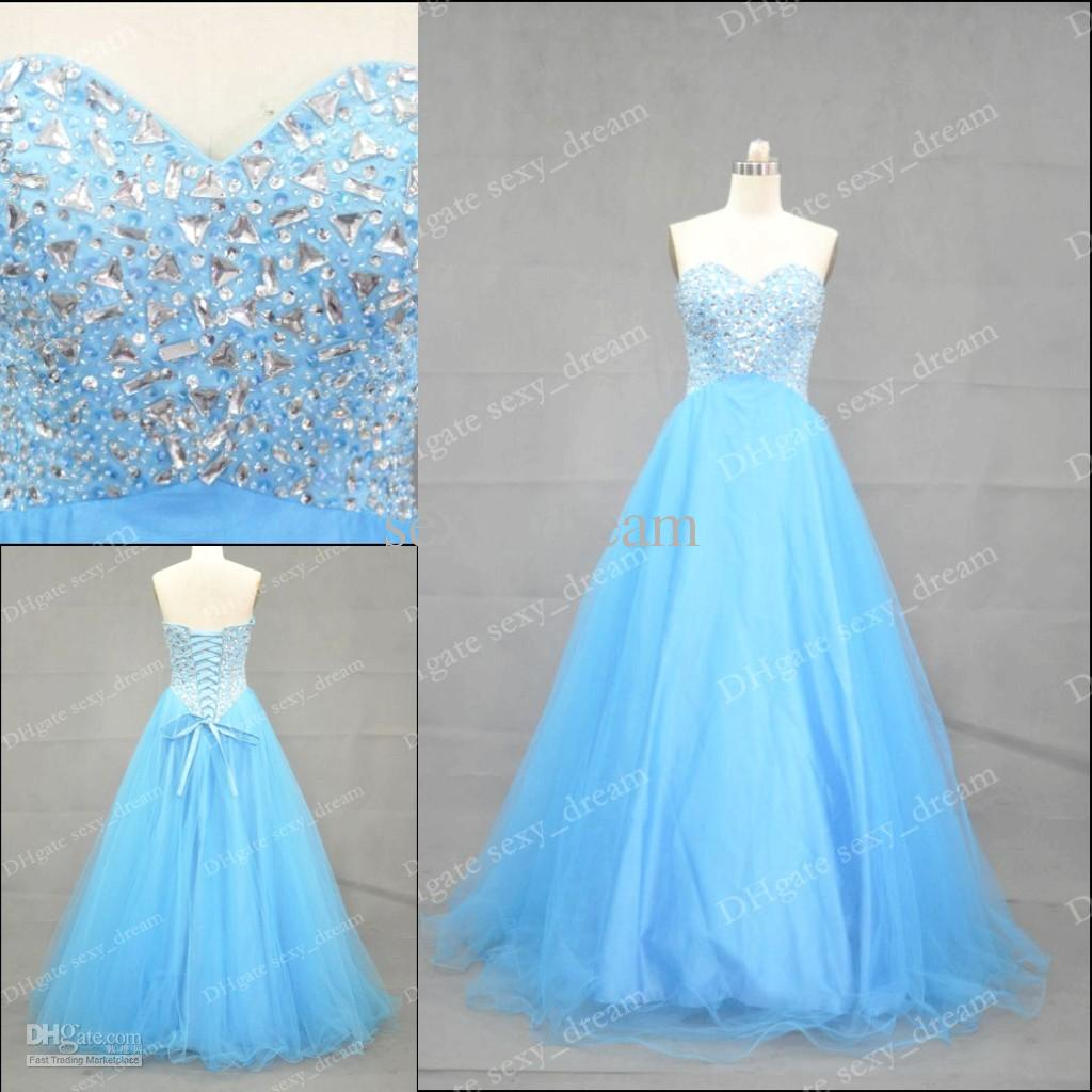 High Sell Beautiful Sweetheart Crystals Evening Gowns Full Length ...