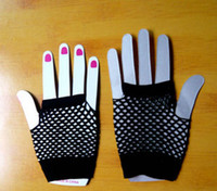 Wholesale Night Outfits - 2017 Promotion fingerless gloves high quality fishnet gloves Fashion Half-finger Fishnet gloves outfits clubbing nights out high quality