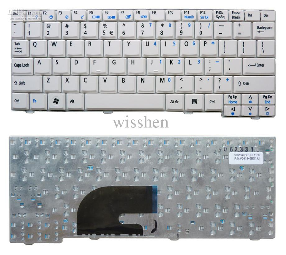 2020 New Acer Aspire One ZG5 ZG6 ZG8 ZA8 KAV10 KAV60 UI &Amp; US White  Keyboard From Wisshen, $16.99 | DHgate.Com