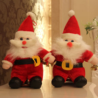 Wholesale Childrens Doll Wholesale - Childrens Plush Christmas Gift Toys Santa Claus Doll 38cm Stuffed Toys