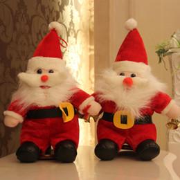 Wholesale Wholesale Childrens Stuff - Childrens Plush Christmas Gift Toys Santa Claus Doll 38cm Stuffed Toys