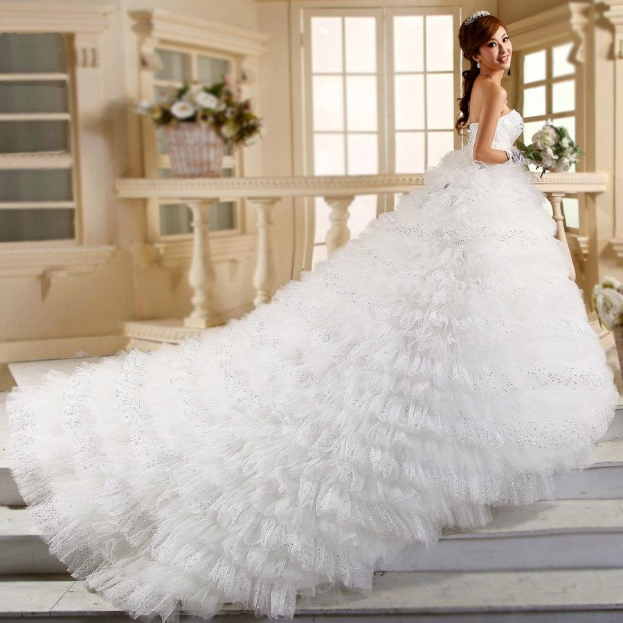 Discount 2015 empire strapless beaded bodice ruffles tulle for Super cheap wedding dresses