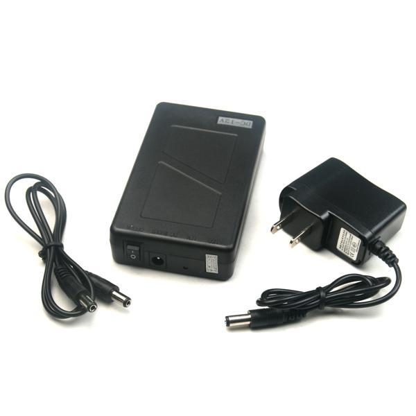 المحمولة فائقة السعة القابلة لإعادة الشحن بطارية ليثيوم أيون حزمة DC 6800mah 12V بطارية 5.5x2.1mm موصل لشاشات CCTV كاميرا