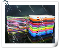 Wholesale Iphone Bumpers Pack - TPU Bumper Frame With Metal Button Case Cover For iphone 5 5s With Retail Packing