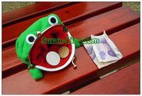Wholesale Uzumaki Naruto Purse - CUTE ! Uzumaki Naruto Frog shape coin purse Wallet Bag 11 * 8cm 10pcs lot free shipping