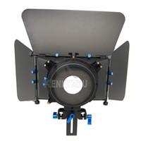 Wholesale 5d Matte Box - DSLR Mattebox Matte Box M3 4x4 Fits 15mm Rod Support For Video Camera DV 7D 5D MARK II 60D 600D D90