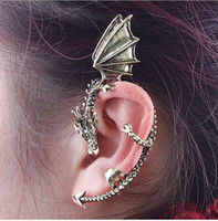 Wholesale Pop Tunnel - pop Earrings stud earrings fashionable individual character ancient dragon ear clip earrings