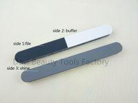 Wholesale Nail Care Buffer - Nail File 20pcs lot 3 ways polishing buffer nail file for nail art nail care nail buffers