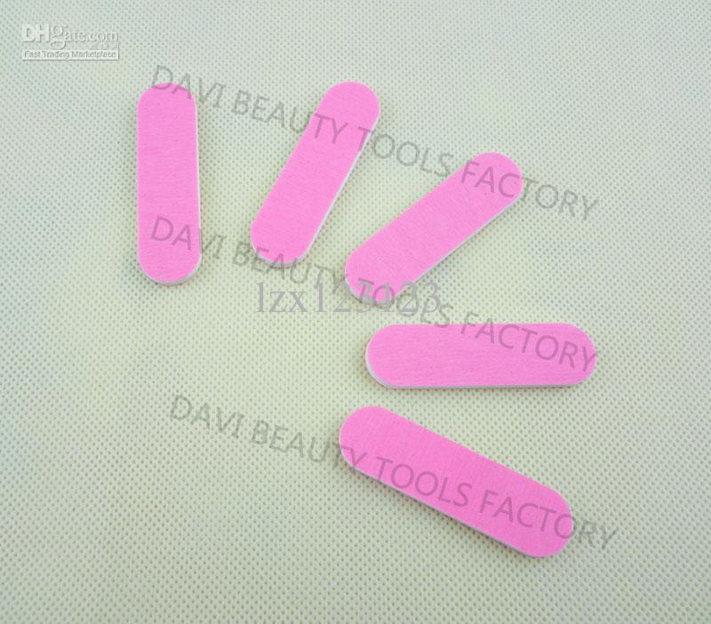 / 네일 아트 미니 양동이 파일 6cm 양쪽 핑크 사포 에메리 보드 무료 배송