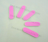 Wholesale Sandpaper Free Shipping - 100pcs lot Mini nail file for nail art 6cm bothside pink sandpaper emerry board FREE SHIPPING