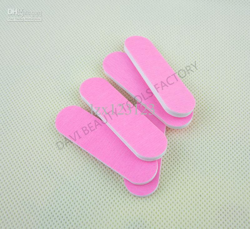 100 stks / partij Mini Nagelbestand voor Nail Art 6cm Both Foze Sandpaper Emerry Board Gratis verzending