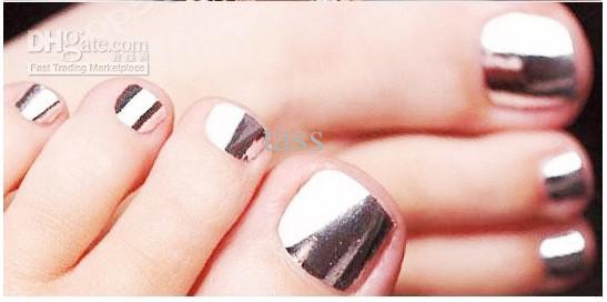 See larger image - 7971f Fashion Metal Nail Art Fake Nail Film Paper Nail Stickers 15