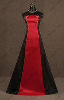 Wholesale Cheapest Red Strapless Dress - Actual Images! Red and Black Cheapest Famous Designer Strapless Satin sleeveless Wedding Dresses